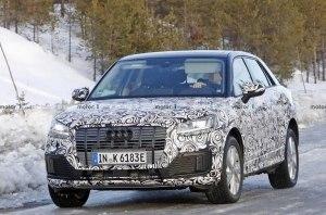 Новые «шпионские» снимки электрического кроссовера Audi Q2 E-Tron